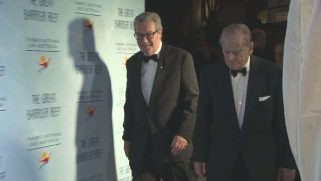 Prince Philip Duke of Edinburgh at Screening of 'Great Barrier Reef' with David Attenborough at Australia House on December 2 2015 in London England