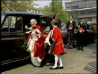 Japanese Emperor award row Prince Philip Japanese Emperor award row Westminster Abbey Queen out of car in state robes and greeted as pageboy takes...