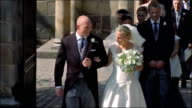 Prince Philip remains in hospital as Royal Family celebrate Christmas / Queen's Christmas message CUTAWAYS Edinburgh Canongate Kirk EXT Zara Phillips...