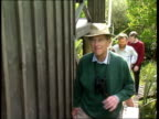 World Wide Fund for nature ITN CR2057 1290 ZEALAND Stewart Islands CMS Prince Philip towards with others PULL OUT as up steps of observation hut...