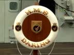 Prince Wiliam on board HMS Daring SCOTLAND Glasgow Scotstoun shipyard EXT Prince William meeting crew of ship and staff of shipyard / HMS Daring life...