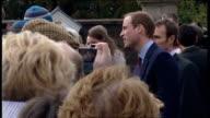 Prince William and Kate Middleton visit Belfast Hillsborough Castle NORTHERN IRELAND Belfast Hillsborough Castle EXT Prince William his fiancee Kate...