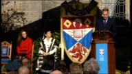Prince William and Kate Middleton visit St Andrews University Sir Menzies Campbell introduces William Prince William speech SOT This is a very...