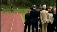 Prince William and Kate Middleton visit Witton Country Park in Blackburn ENGLAND Lancashire Darwen Witton Country Park EXT Prince William and his...