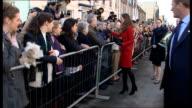 Prince William and Kate Middleton wedding speculation Sarah Burton will design wedding dress LIB Fife St Andrews EXT Kate Middleton shaking hands...