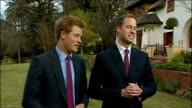 Prince William and Prince Harry interview Prince William interview SOT Hopes for England match against Algeria 10 nil would be nice but not realistic...