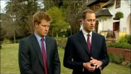 Prince William and Prince Harry interview SOUTH AFRICA Rustenburg EXT Prince William interview with Prince Harry beside SOT On what visit to Botswana...