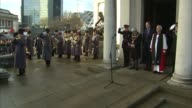 Prince William at memorial service Bugle plays 'The Last Post' SOT / Minute silence / Bugle heard SOT