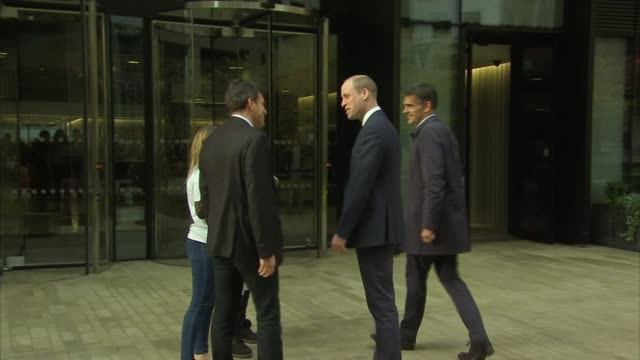 Prince William attends final meeting of Cyberbullying Taskforce Arrivals ENGLAND London Google Headquarters EXT Prince William Duke of Cambridge and...