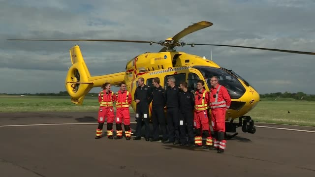 Prince William completes his final day with East Anglia Air Ambulance Service EXT Prince William and other East Anglian Air Ambulance crew along to...