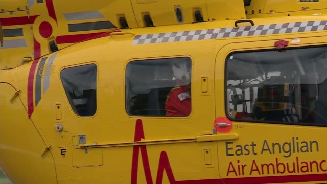 Prince William completes his final day with East Anglia Air Ambulance Service ENGLAND Cambridgeshire Cambridge Cambridge Airport East Anglian Air...