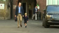 Prince William describes Prince George's first week at school as 'interesting' LIB / 792017 Battersea Thomas's Battersea EXT Prince George from car...