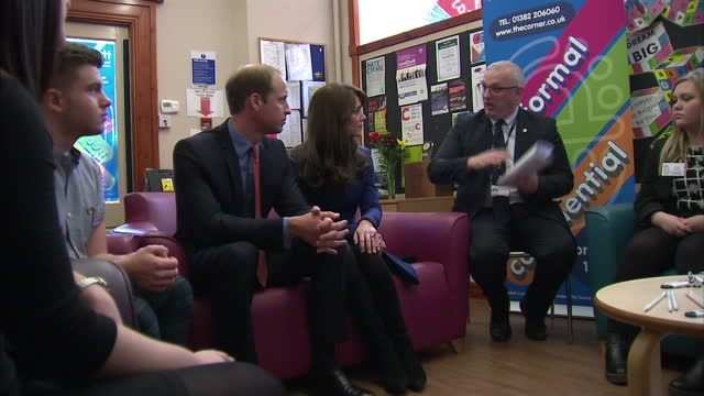Prince William Duke of Cambridge and Catherine Duchess of Cambridge during their visit to The Corner where they participated in an antibullying...