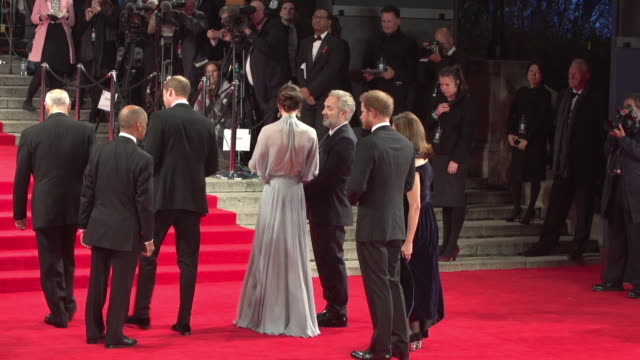 Prince William Duke of Cambridge Catherine Duchess of Cambridge Prince Harry at 'Spectre' World Premiere at Royal Albert Hall on October 26 2015 in...