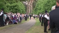 Prince William Duke of Cambridge Prince George of Cambridge Catherine Duchess of Cambridge Princess Charlotte of Cambridge arrive at The Christening...