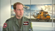 Prince William flies helicopter during RAF Search and Rescue mission RAF Valley INT Prince William interview SOT before I started Search and Rescue...