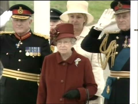 Prince William graduating from Sandhurst Royal Military Academy / Queen Elizabeth II and Prince Philip / Kate Middleton and her parents Carole and...