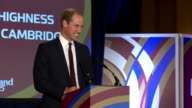 Prince William greets Welsh Rugby squad at RWC 2015 Welcome Ceremony for Wales Shows Prince William Duke of Cambridge taking the stage and giving...