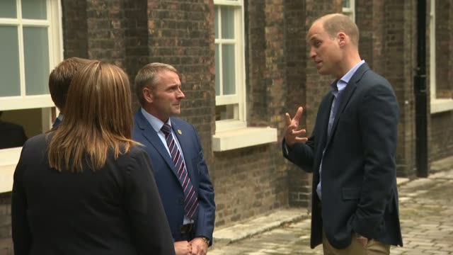 Prince William meets World Cup winning England U20 squad ENGLAND London Kensington Kensington palace EXT Prince William Duke of Cambridge and...