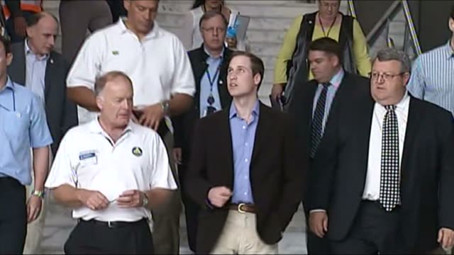 Prince William on visit to Christchurch following a huge earthquake