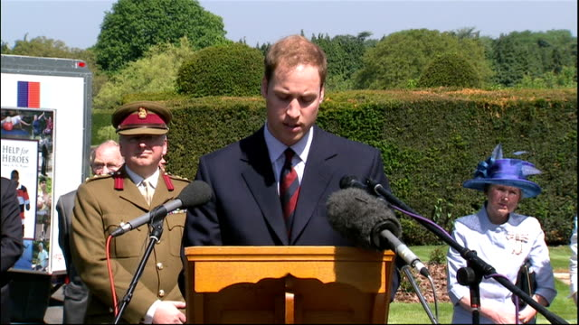 Prince William opens new Help for Heroes rehabilitation centre at Headley Court Prince William speech SOT On visiting Headley Court two years ago...