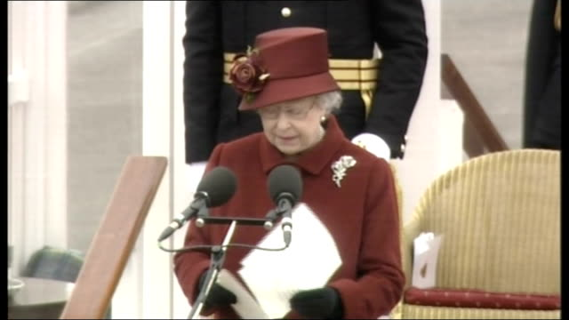 Prince William passing out parade at Sandhurst Military Academy Queen Elizabeth II speech SOT For most of us there come a very few special days which...