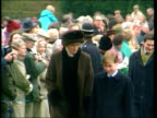 Prince William to attend Eton R25129404 ITN Norfolk Sandringham MS Princess of Wales and Prince William towards past waiting crowds PULL