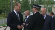 Prince William visits Greater Manchester Police arrival and departure ENGLAND Manchester Greater Manchester Police HQ EXT Prince William arrives /...
