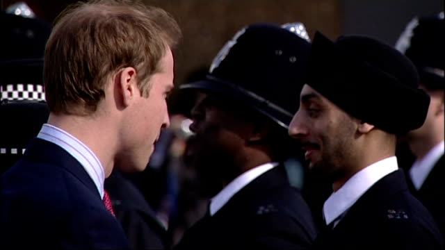 Prince William visits police training centre Prince William along with Sir Paul Stephenson to meet recruits / Royal standard flying outside training...