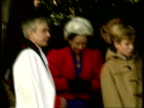 Christmas Sandringham ENGLAND Norfolk Sandringham Royals including William and Harry with rector at church gate Duke of Edinburgh along with Peter...