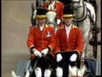 Trooping the Colour ENGLAND London Landau carrying Princess Diana Queen Mum Princes Harry and William along the Mall William and Harry waving