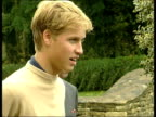 Princes Collection 2 R29090011 Gloucestershire Highgrove Princes Charles and William walk through garden at Highgrove William SOT on A level results...