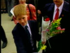 Princes Collection 2 T25029808 CANADA Vancouver William Harry greeted by screaming fans in Vancouver Charles and Harry collecting flowers vox pops...