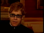 Princes Trust 25th Anniversary ITN Elton John interviewed SOT he's one member of the royal family that wears his heart on his sleeve wants to help...