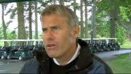 Prince's Trust Celebrity Golf interviews ENGLAND Northumberland Slaley EXT Robert Lee interviewed about Joey Barton conviction for assault SOT he's...