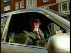 JON ENGLAND London EXT i/c sitting in a Bentley Derby Princess Royal out of car and greeted on visit to open Divisional police headquarters...