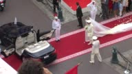 Princess Charlene and Prince Albert of Monaco at the Monaco Royal Wedding Religious Ceremony Arrivals at Monaco