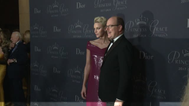 Princess Charlene of Monaco and Prince Albert II of Monaco at 2017 Princess Grace Awards Gala With Presenting Sponsor Christian Dior Couture at The...