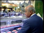 Judge's report LTN SUE SAVILLE reax ITN ENGLAND London Harrods INT Mohammed Al Fayed along through food hall Laurie Mayer interview SOT don't accept...