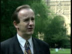 London Westminster Lawrence Robertson MP intvwd Expressing his concern over Diana's holiday with the controversial Al Fayed Buckingham Palace...