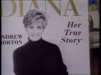 Princess of Wales agrees to divorce TX INT/June 1992 London CMS Advertising board for book 'Diana' by Andrew Morton PULL OUT as copies of book...