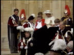 ENGLAND Windsor LMS Order of the Garter ceremony taking place with Queen Duke of Edinburgh Queen Mother and Prince Charles in ceremonial clothes and...