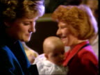 Bulimia rumours CMS Princess of Wales with mothers and babiesTX