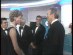 Bulimia rumours U23099301 SKY POOL INT Leicester Square Princess of Wales shakes Clint Eastwood at film premiere U17069302 BBC POOL Cambridge MS...