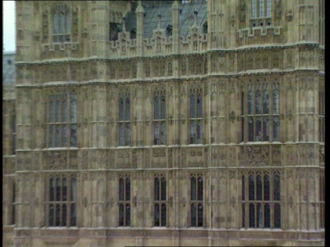 Homelessness GV Palace of Westminster ZOOM IN Smith Square MS Front of Conservative Central Office TILT CMS Alan Duncan MP intvwd SOT Princess has...
