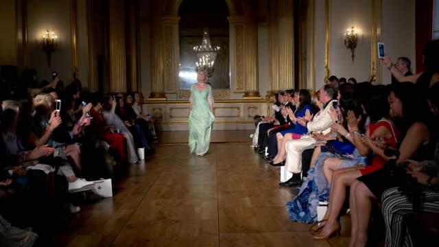 Princess Olga Romanoff on Grace Chen fashion catwalk show at Lancaster House London on June 11 2016