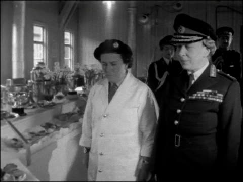 Princess Royal visits the Queen Elizabeth Camp in Guildford ENGLAND Surrey Guildford Mary Princess Royal greeted by Sir Robert Haining and Lady...