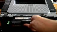 Printer at work