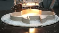 A 3D printer uses Polylactic acid as it builds an object during the 3D Print show at the Business Design Center in London UK on Friday Nov 8 A 3D...