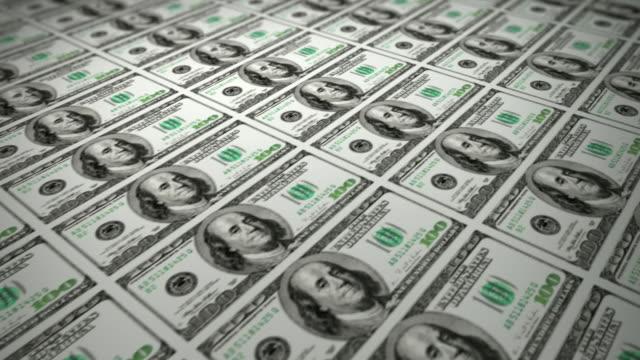 Printing 100 Dollars Bills (Loopable)
